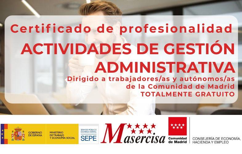 Certificado de profesionalidad en Actividades de gestión administrativa