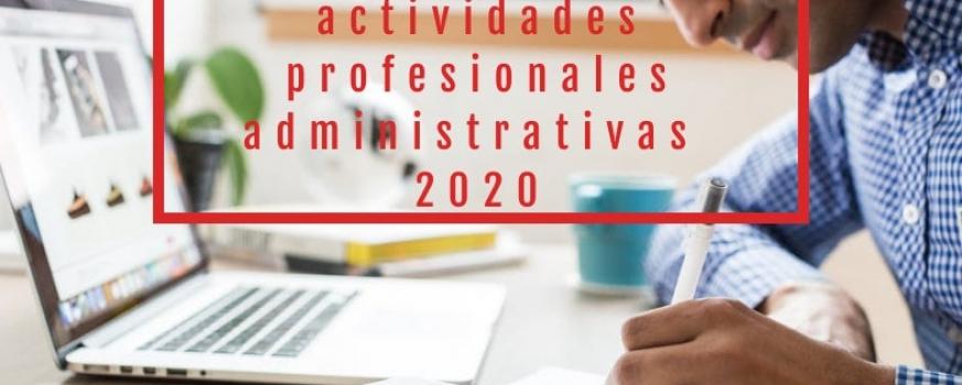 Cursos gratis sector Actividades profesionales administrativas 2020