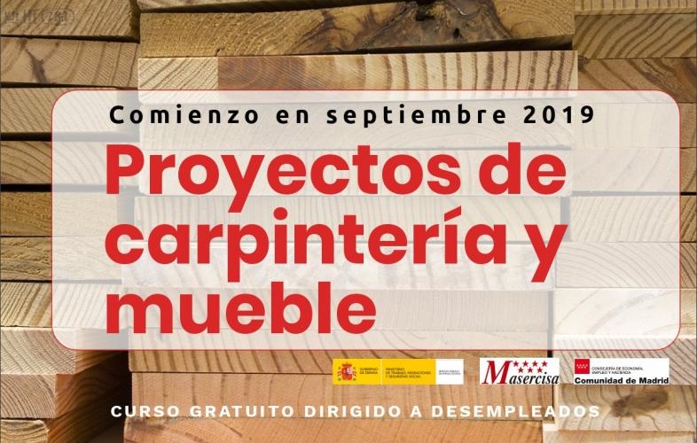 Curso de proyectos de carpintería y mueble