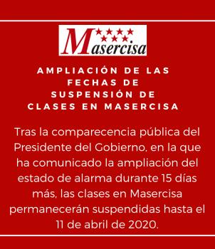 Ampliación de la fecha de suspensión de las clases