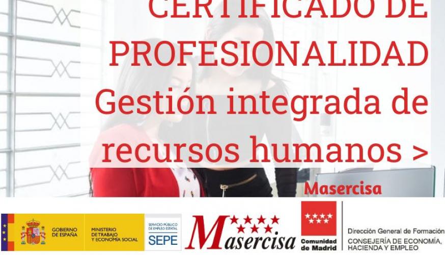 Certificado de Profesionalidad en Gestión integrada de recursos humanos