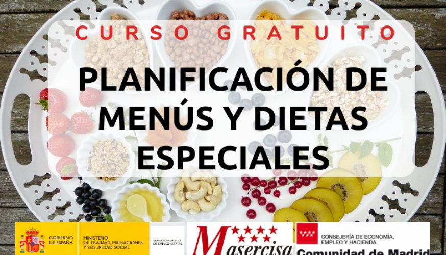 Curso de planificación de menús y dietas especiales