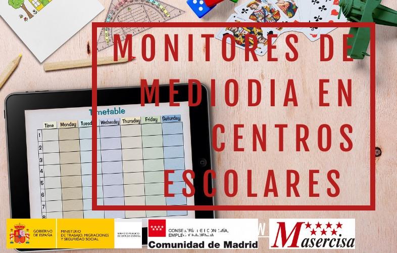Curso de monitores de mediodía en centros escolares