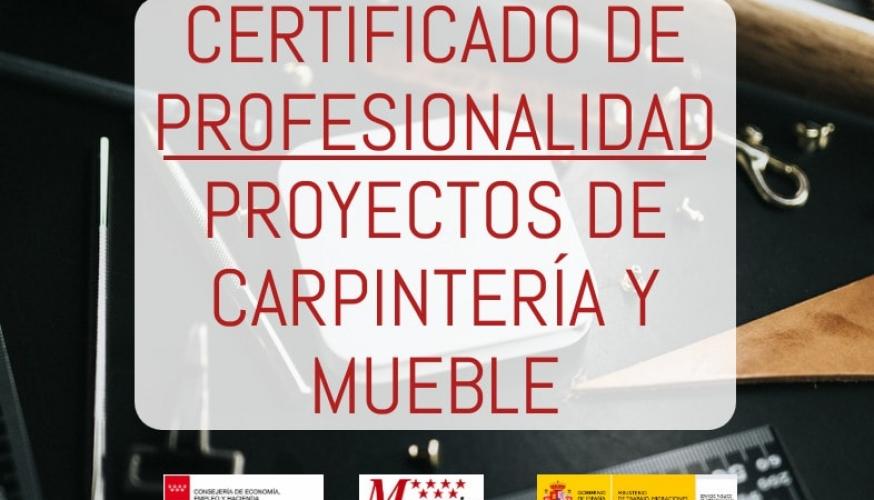 Certificado de profesionalidad de proyectos de carpintería y mueble
