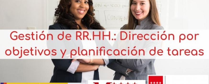 Curso de Gestión de RR.HH.: dirección por objetivos y planificación de tareas