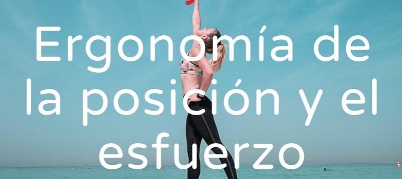 Curso de ergonomía de la posición y el esfuerzo