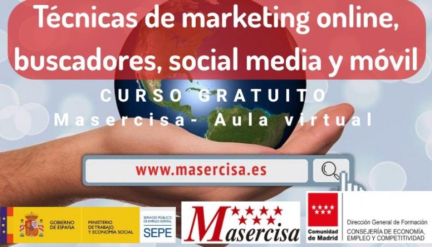 Curso de Técnicas de marketing online, buscadores, social media y móvil